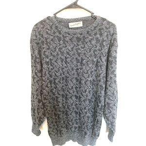 Diane Von Furstenberg Grey Metallic Sweater